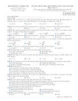 Bộ đề thi THPT môn vật lý 2015 có lời giải chi tiết