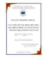 CÁC NHÂN TỐ TÁC ĐỘNG ĐẾN HIỆU QUẢ HOẠT ĐỘNG CỦA NGÂN HÀNG THƯƠNG MẠI CỔ PHẦN VIỆT NAM.PDF