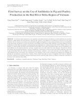 First Survey on the Use of Antibiotics in Pig and Poultry Production in the Red River Delta Region of Vietnam