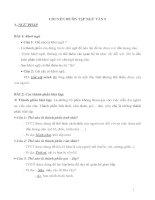 Chuyên đề ngữ văn lớp 9 ngữ pháp