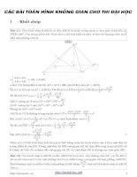 200 bài hình học không gian có đáp án chi tiết