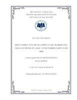 HOÀN THIỆN XÂY DỰNG CHIẾN LƯỢC MARKETING CHO SẢN PHẨM SỮA ĐẬU NÀNH TRIBECO ĐẾN NĂM 2020  LUẬN VĂN THẠC SĨ.PDF
