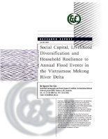 SOCIAL CAPITAL, LIVELIHOOD DIVERSIFICATION AND HOUSEHOLD RESILIENCE TO ANNUAL FLOOD EVENTS IN THE VIETNAMESE MEKONG RIVER DELTA
