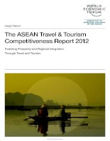 The ASEAN Travel & Tourism Competitiveness Report 2012