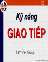 Kỹ năng giao tiếp của Tân Việt Group