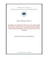 NGHIÊN CỨU NHỮNG NHÂN TỐ TÁC ĐỘNG ĐẾN XU HƯỚNG TIÊU DÙNG LẠI ĐIỆN THOẠI THÔNG MINH (SMARTPHONE) CỦA NGƯỜI TIÊU DÙNG TP.HCM