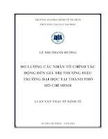 ĐO LƯỜNG CÁC NHÂN TỐ CHÍNH TÁC ĐỘNG ĐẾN GIÁ TRỊ THƯƠNG HIỆU TRƯỜNG ĐẠI HỌC TẠI TPHCM.PDF