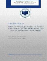 NGHIÊN CỨU TÍNH HIỆU QUẢ CỦA THỊ TRƯỜNG CHỨNG KHOÁN VIỆT NAM THÔNG QUA TỶ SUẤT SINH LỢI BẬT THƯỜNG TỪ CÁC ĐỢT IPO.PDF