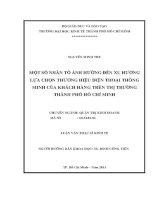 MỘT SỐ NHÂN TỐ ẢNH HƯỞNG ĐẾN XU HƯỚNG LỰA CHỌN THƯƠNG HIỆU ĐIỆN THOẠI THÔNG MINH CỦA KHÁCH HÀNG TRÊN THỊ TRƯỜNG THÀNH PHỐ HỒ CHÍ MINH.PDF