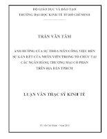 ẢNH HƯỞNG CỦA SỰ THỎA MÃN CÔNG VIỆC ĐẾN SỰ GẮN KẾT CỦA NHÂN VIÊN TRONG TỔ CHỨC TẠI CÁC NGÂN HÀNG TMCP TRÊN ĐỊA BÀN TPHCM.PDF