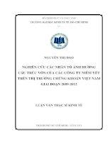 NGHIÊN CỨU CÁC NHÂN TỐ ẢNH HƯỞNG CẤU TRÚC VỐN CỦA CÁC CÔNG TY NIÊM YẾT TRÊN TTCK VIỆT NAM GIAI ĐOẠN 2009-2012.PDF