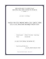 NHÂN TỐ TÁC ĐỘNG ĐẾN CẤU TRÚC VỐN CỦA CÁC DOANH NGHIỆP NIÊM YẾT.PDF