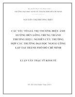 CÁC YẾU TỐ GIÁ TRỊ THƯƠNG HIỆU ẢNH HƯỞNG ĐẾN LÒNG TRUNG THÀNH THƯƠNG HIỆU NGHIÊN CỨU TRƯỜNG HỢP CÁC TRƯỜNG ĐẠI HỌC NGOÀI CÔNG LẬP TẠI THÀNH PHỐ HỒ CHÍ MINH.PDF