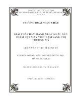 GIẢI PHÁP ĐẨY MẠNH XUẤT KHẨU SẢN PHẨM DỆT MAY VIỆT NAM SANG THỊ TRƯỜNG MỸ.PDF
