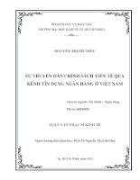 SỰ TRUYỀN DẪN CHÍNH SÁCH TIỀN TỆ QUA KÊNH TÍN DỤNG NGÂN HÀNG Ở VIỆT NAM.PDF