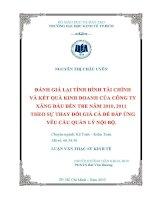 ĐÁNH GIÁ LẠI TÌNH HÌNH TÀI CHÍNH VÀ KẾT QUẢ KINH DOANH CỦA CÔNG TY XĂNG DẦU BẾN TRE NĂM 2010, 2011 THEO SỰ THAY ĐỔI GIÁ CẢ ĐỂ ĐÁP ỨNG YÊU CẦU QUẢN LÝ NỘI BỘ.PDF