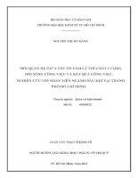 MỐI QUAN HỆ GIỮA YẾU TỐ TÂM LÝ VỚI CHẤT LƯỢNG ĐỜI SỐNG CÔNG VIỆC VÀ KẾT QUẢ CÔNG VIỆC. NGHIÊN CỨU VỚI NHÂN VIÊN NGÀNH DẦU KHÍ TẠI THÀNH PHỐ HỒ CHÍ MINH.PDF