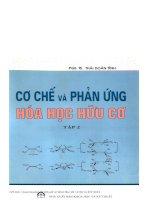 Cơ chế và phản ứng hóa học hữu cơ (tập 2)   PGS TS thái doãn tĩnh