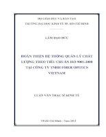 HOÀN THIỆN HỆ THỐNG QUẢN LÝ CHẤT LƯỢNG THEO TIÊU CHUẨN ISO 9001 2008 TẠI CÔNG TY TNHH FIBER OPITICS VIETNAM.PDF