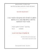 CÁC NHÂN TỐ KINH TẾ VĨ MÔ VÀ BIẾN ĐỘNG CỦA THỊ TRƯỜNG CHỨNG KHOÁN VIỆT NAM  LUẬN VĂN THẠC SĨ.PDF