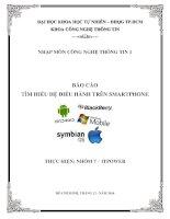 Tìm hiểu hệ điều hành trên smartphone   đh KHTN TP HCM