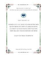 NGHIÊN CỨU CÁC NHÂN TỐ ẢNH HƯỞNG ĐẾN QUYẾT ĐỊNH GỬI TIỀN CỦA KHÁCH HÀNG CÁC NHÂN TẠI NGÂN HÀNG TMCP SÀI GÒN TRÊN ĐỊA BÀN TPHCM.PDF