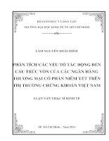 PHÂN TÍCH CÁC YẾU TỐ TÁC ĐỘNG ĐẾN CẤU TRÚC VỐN CỦA CÁC NGÂN HÀNG THƯƠNG MẠI CỔ PHẦN NIÊM YẾT TRÊN THỊ TRƯỜNG CHỨNG KHOÁN VIỆT NAM.PDF