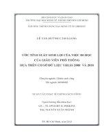 ƯỚC TÍNH SUẤT SINH LỢI CỦA VIỆC ĐI HỌC CỦA GIÁO VIÊN PHỔ THÔNG DỰA TRÊN CƠ SỞ DỮ LIỆU VHLSS2008 VÀ 2010.PDF