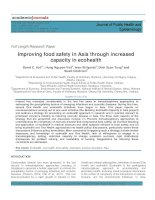 Improving food safety in Asia through increased capacity in ecohealth