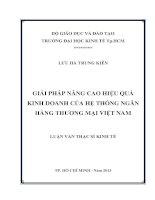 GIẢI PHÁP NÂNG CAO HIỆU QUẢ KINH DOANH CỦA HỆ THỐNG NGÂN HÀNG THƯƠNG MẠI VIỆT NAM  LUẬN VĂN THẠC SĨ.PDF