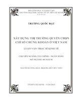 XÂY DỰNG THỊ TRƯỜNG QUYỀN CHỌN CHỈ SỐ CHỨNG KHOÁN Ở VIỆT NAM.PDF