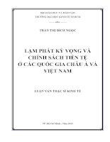 LẠM PHÁT KỲ VỌNG VÀ CHÍNH SÁCH TIỀN TỆ Ở CÁC QUỐC GIA CHÂU Á VÀ VIỆT NAM.PDF