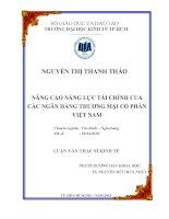 NÂNG CAO NĂNG LỰC TÀI CHÍNH CỦA CÁC NGÂN HÀNG THƯƠNG MẠI CỔ PHẦN VIỆT NAM.PDF