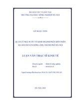 Quản ký nhà nước về kinh doanh phân bón trên địa bàn Huyện Đông Anh, Thành phố Hà Nội