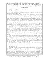 Sáng kiến cải tiến kỹ thuật Một số kinh nghiệm dạy học văn bản Nhật dụng