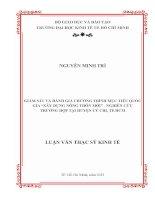 GIÁM SÁT VÀ ĐÁNH GIÁ CHƯƠNG TRÌNH MỤC TIÊU QUỐC GIA XÂY DỰNG NÔNG THÔN MỚI - NGHIÊN CỨU TRƯỜNG HỢP TẠI HUYỆN CỦ CHI, TP HỒ CHÍ MINH