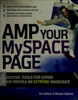 Amp your MySpace page Essential tools for giving your profile an extreme makeover