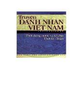 Truyện danh nhân Việt Nam  thời dụng nước và tự chủ thời Lý-Trần