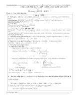 các dạng bài tập chương 1 hóa học lớp 12