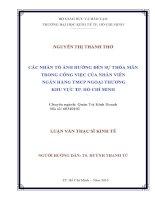 CÁC NHÂN TỐ ẢNH HƯỞNG ĐẾN SỰ THỎA MÃN TRONG CÔNG VIỆC CỦA NHÂN VIÊN NGÂN HÀNG TMCP NGOẠI THƯƠNG KHU VỰC TP. HỒ CHÍ MINH.PDF