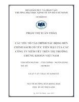 CÁC YẾU TỐ TÀI CHÍNH TÁC ĐỘNG ĐẾN CHÍNH SÁCH CỔ TỨC TIỀN MẶT CỦA CÁC CÔNG TY NIÊM YẾT TRÊN THỊ TRƯỜNG CHỨNG KHOÁN VIỆT NAM.PDF