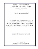 CÁC YẾU TỐ ẢNH HƯỞNG ĐẾN XUNG ĐỘT CÔNG VIỆC - GIA ĐÌNH ĐỐI VỚI LAO ĐỘNG NỮ TẠI TP. HỒ CHÍ MINH.PDF