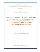 NGHIÊN CỨU NHỮNG YẾU TỐ TÁC ĐỘNG ĐẾN QUYẾT ĐỊNH MUA CỦA NGƯỜI TIÊU DÙNG ĐỐI VỚI THUỐC KHÔNG KÊ ĐƠN TẠI THÀNH PHỐ HỒ CHÍ MINH.PDF
