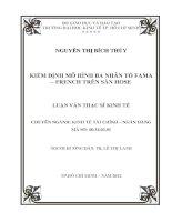 KIỂM ĐỊNH MÔ HÌNH BA NHÂN TỐ FAMA - FRENCH TRÊN SÀN HOSE.PDF
