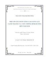 MỘT SỐ GIẢI PHÁP NÂNG CAO NĂNG LỰC CẠNH TRANH CỦA VIỄN THÔNG BÌNH DƯƠNG ĐẾN NĂM 2020.PDF