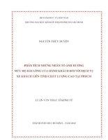 PHÂN TÍCH NHỮNG NHÂN TỐ ẢNH HƯỞNG MỨC ĐỘ HÀI LÒNG CỦA KHÁCH HÀNG ĐỐI VỚI DỊCH VỤ XE KHÁCH LIÊN TỈNH CHẤT LƯỢNG CAO TẠI TPHCM.PDF