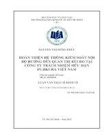HOÀN THIỆN HỆ THỐNG KIỂM SOÁT NỘI BỘ HƯỚNG ĐẾN QUẢN TRỊ RỦI RO TẠI CÔNG TY TNHH FUJIKURA VIỆT NAM.PDF