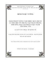 GIẢI PHÁP NÂNG CAO HIỆU QUẢ QUẢN LÝ RỦI RO TÍN DỤNG TẠI NGÂN HÀNG THƯƠNG MẠI CỔ PHẦN VIỆT NAM THƯƠNG TÍN.PDF