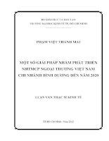 MỘT SỐ GIẢI PHÁP NHẰM PHÁT TRIỂN NGÂN HÀNG TMCP NGOẠI THƯƠNG VIỆT NAM CHI NHÁNH BÌNH DƯƠNG ĐẾN NĂM 2020.PDF