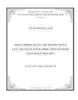HOÀN THIỆN QUẢN TRỊ NGUỒN NHÂN LỰC TẠI NGÂN HÀNG HSBC HỒ CHÍ MINH GIAI ĐOẠN 2012 - 2017.PDF